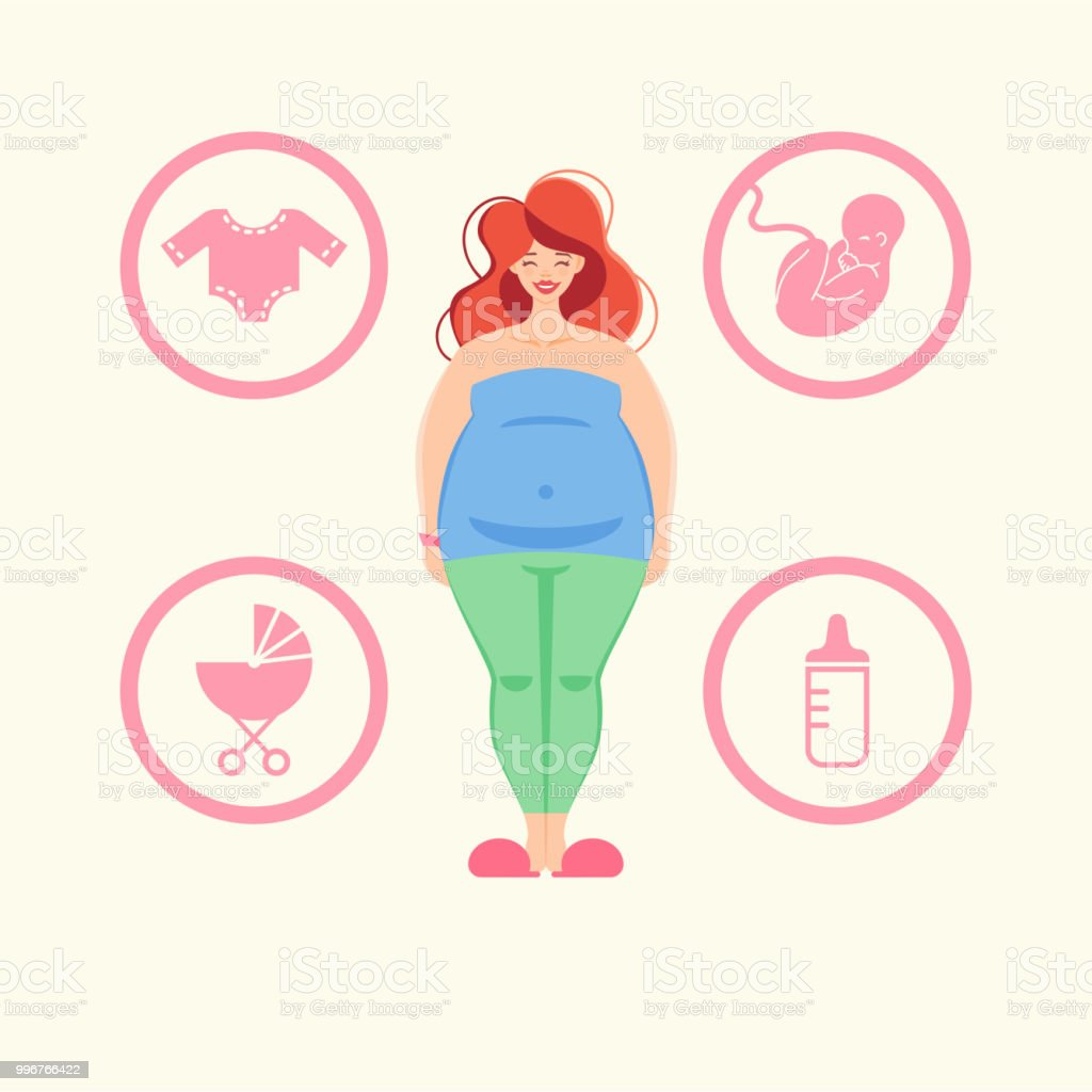 Pregnant woman. vector art illustration