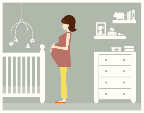 Pregnant Woman with Baby Boy Room