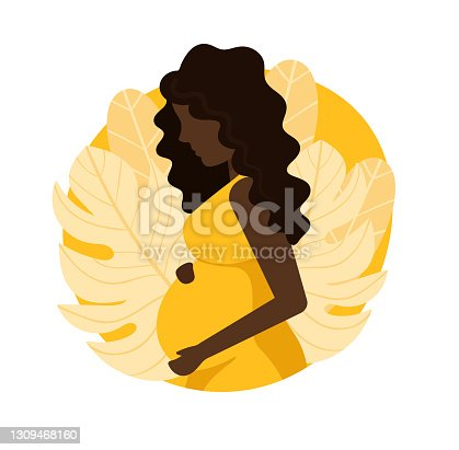 istock Pregnant young black woman. 1309468160