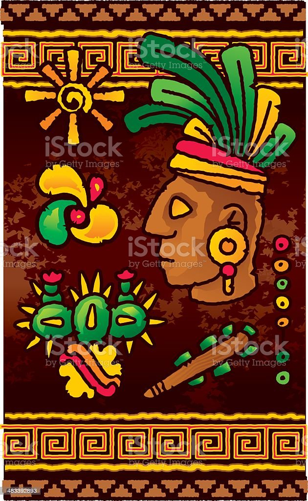 Prehispanic design elements royalty-free stock vector art