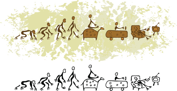 Prehistoric Cave Painting Vision Future Evolution of Man