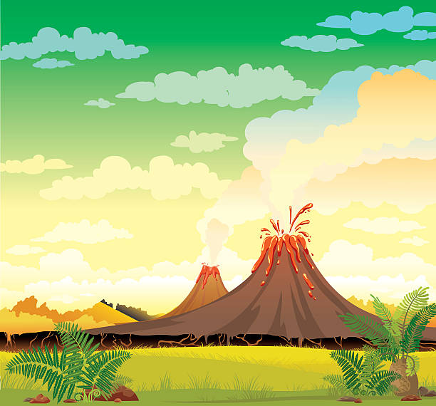 Royalty Free Volcano Clip Art, Vector Images ...