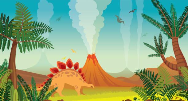 Best Prehistoric Landscape Illustrations, Royalty-Free ...