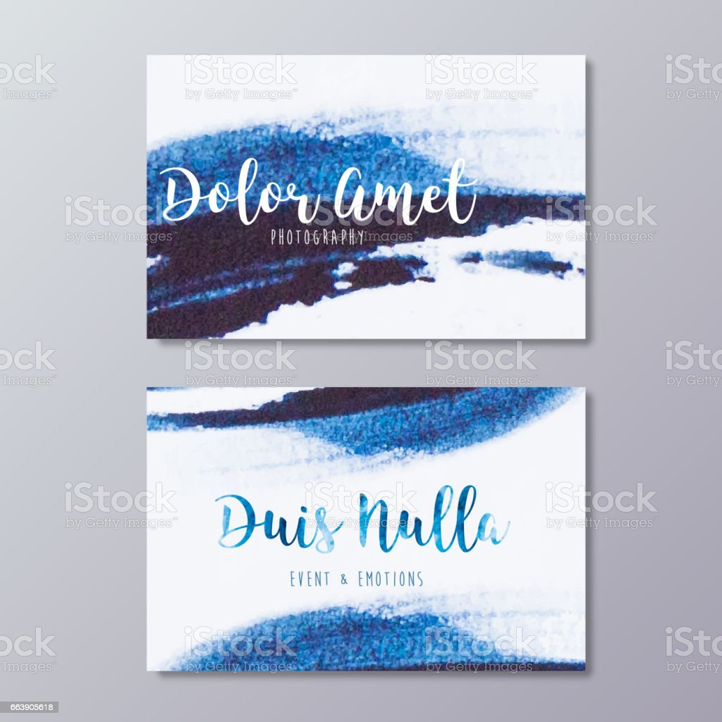 Premade wedding photography business card design vector templates.