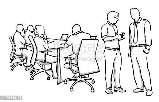 istock Pre-Meeting Business Conversation 1296440173