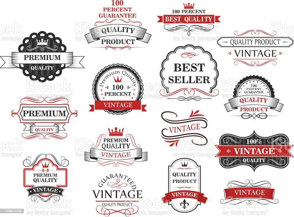 Premium and quality banners royalty-free stock vector art
