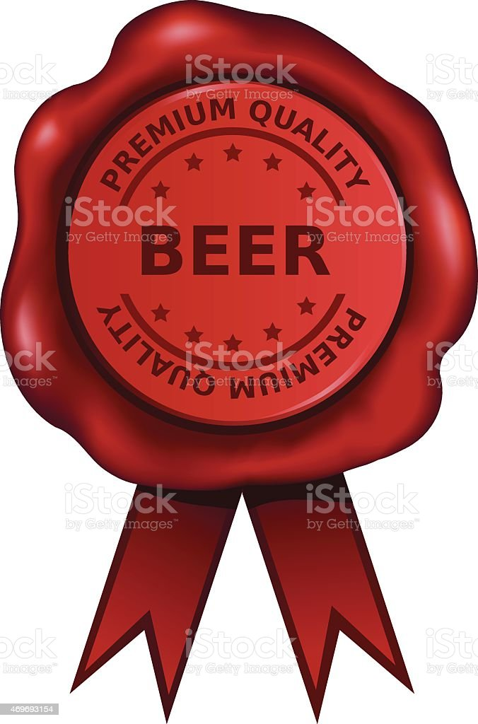 Premium Beer vector art illustration