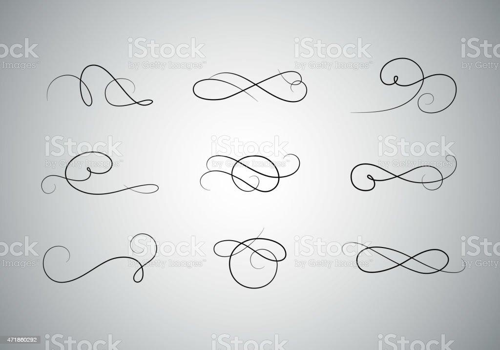 Premium calligraphiques ensemble - Illustration vectorielle