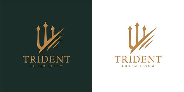 Premium corporate company trident icon