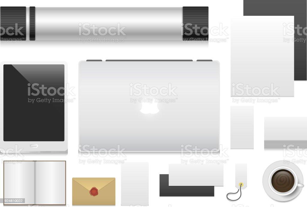 Premiumci Vorlage Geschäft Schreibwaren Mockup Realistische 3d ...