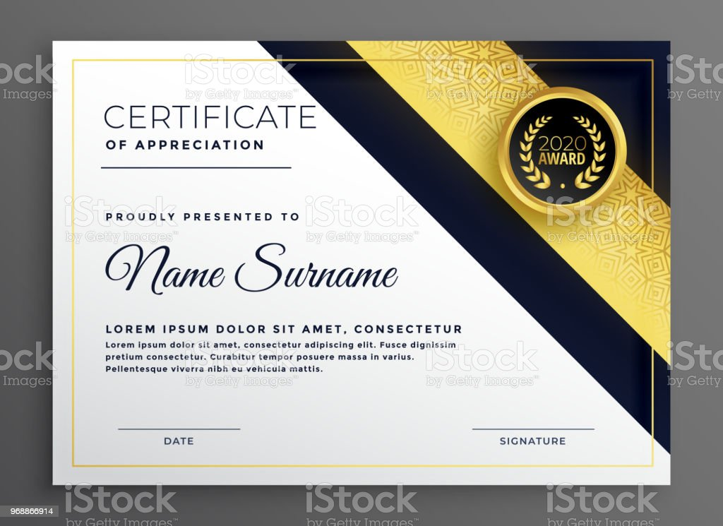 premium diploma certificate of appreciate template