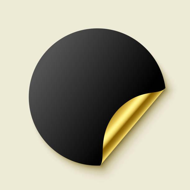 Premiumleer goldener Realistischer Aufkleber – Vektorgrafik