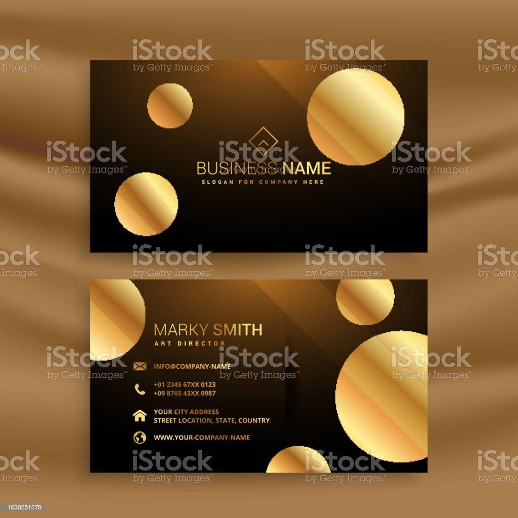 Carte De Visite Premium Cercle Dor Cliparts Vectoriels Et