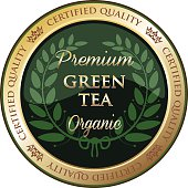 Premium Green Tea Label