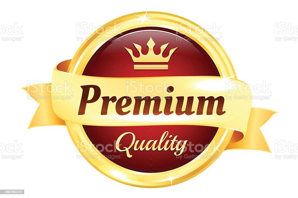 Premium High Quality Golden Badge vector art illustration