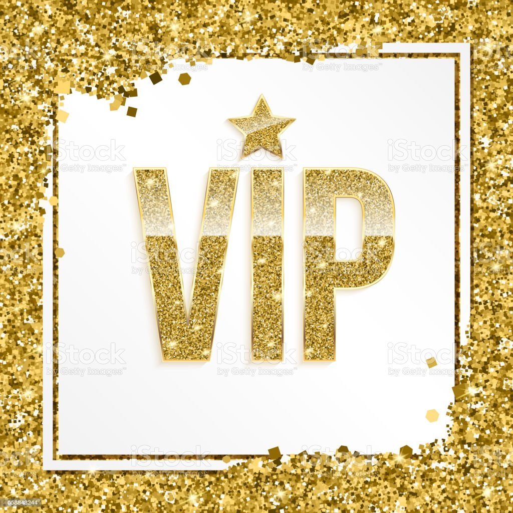 Vip Premium Invitation Card Poster Or Flyer For Party Golden Design  Template With Glittering Shine Text Decorative Background With Gold Glitter  Shine