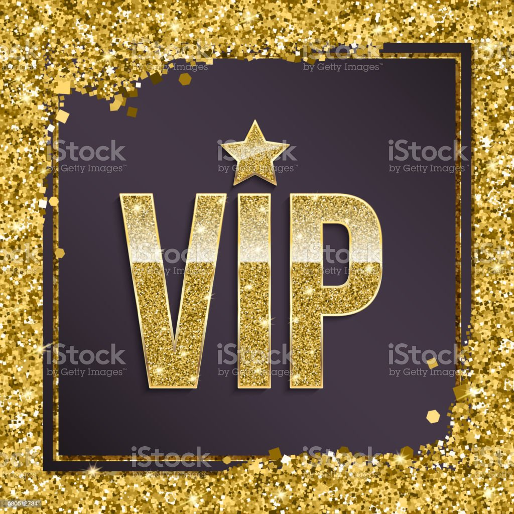 Vip premium invitation card poster or flyer for party golden design vip premium invitation card poster or flyer for party golden design template with glittering stopboris Images