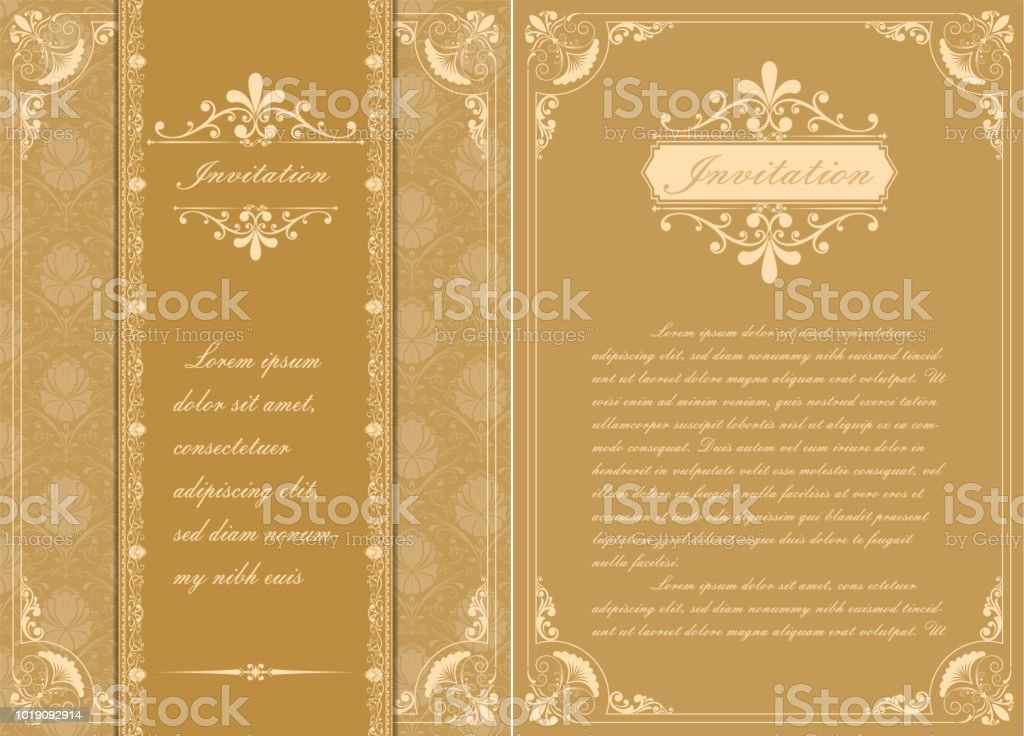 Premiumeinladung Oder Hochzeitskarte Stock Vektor Art Und Mehr
