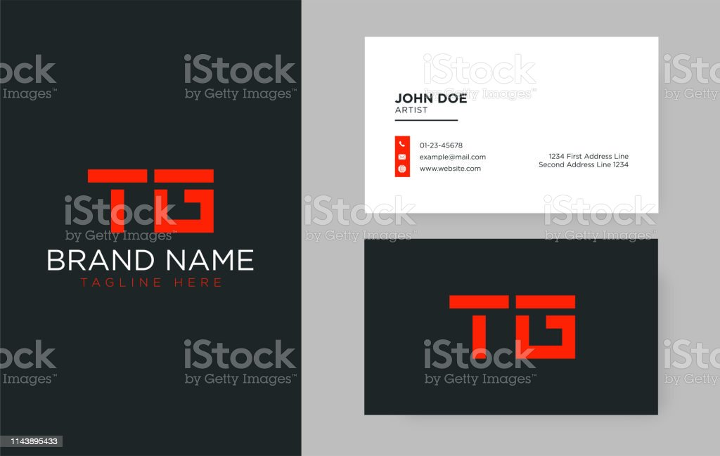 Premium Letter Tg Logo With An Elegant Corporate Identity