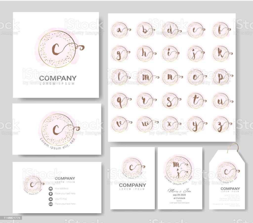Premiumlogovorlagen Für Hochzeit Logo Visitenkarte Banner