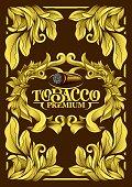 Premium Luxury Menu Cover List Frame Tobacco Cuban Cigar Label