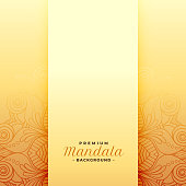 premium mandala golden pattern background design