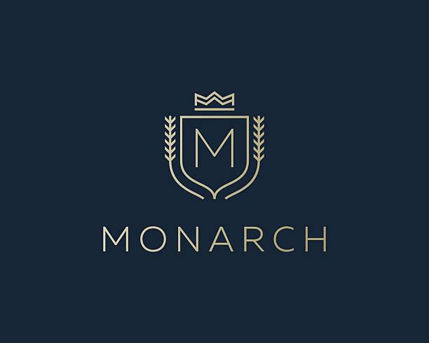 Premium monogram letter M initials ornate signature logotype. Elegant crest vector art illustration