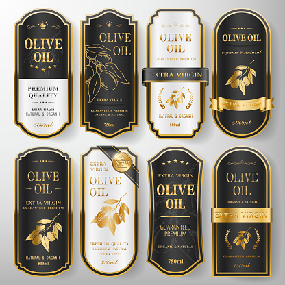 premium olive oil labels set