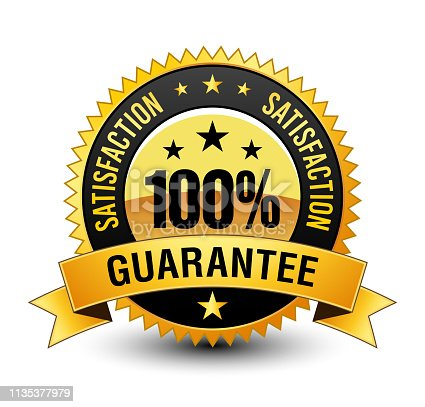 This 100% satisfaction guarantee badge will convey/support that, your product/service are completely reliable & authentic. By this badge customer will know that this product/service will meet there expectation.