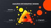 Premium quality 3 option triangle marketing analytics presentation vector illustration template.
