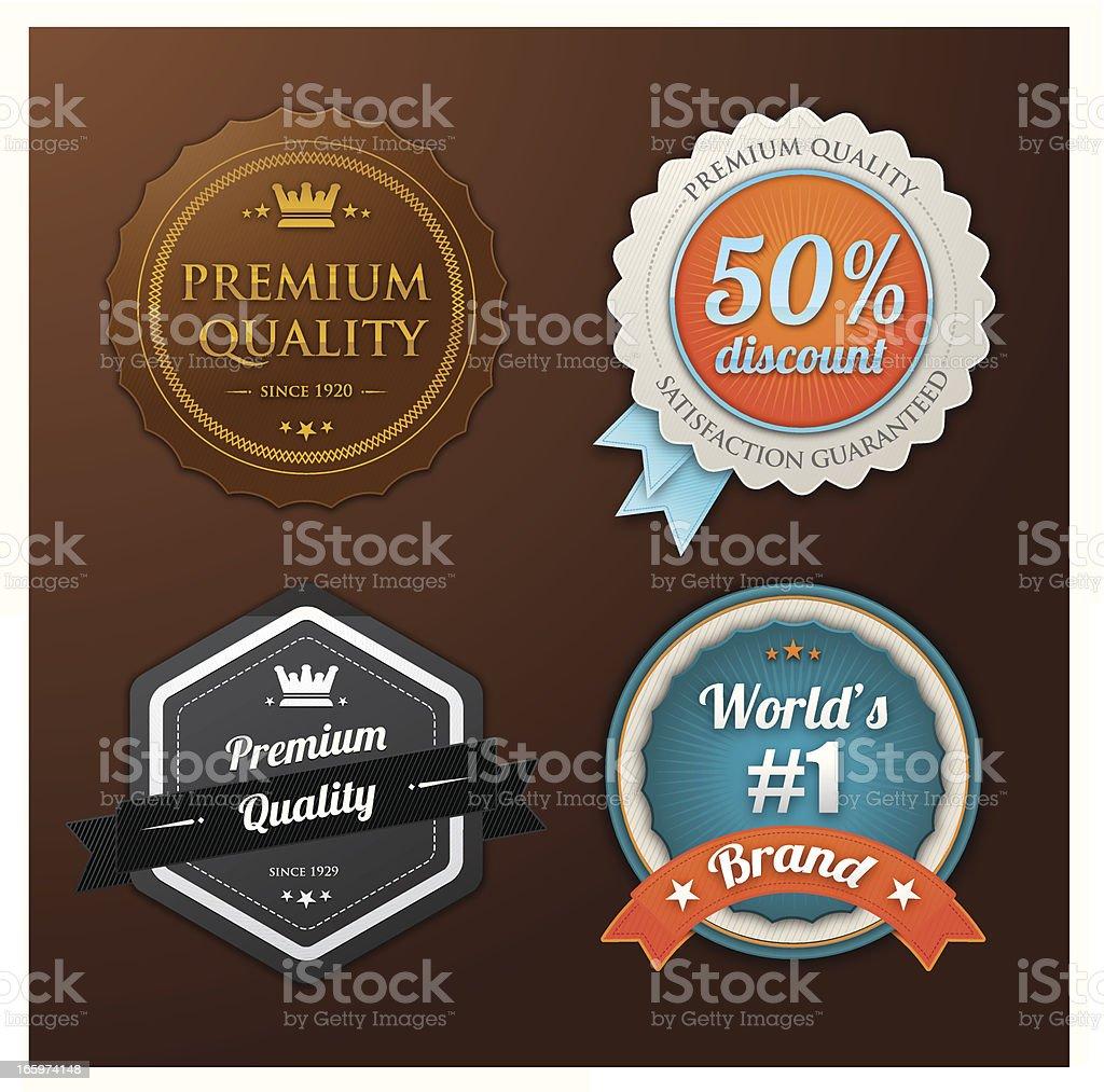 Premium quality badges royalty-free stock vector art