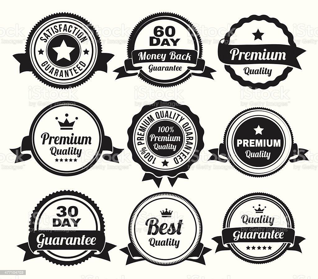 Premium Quality Badges vector art illustration