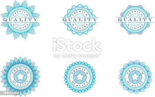 istock Premium Quality Badges - Vector Illustrations 183464859