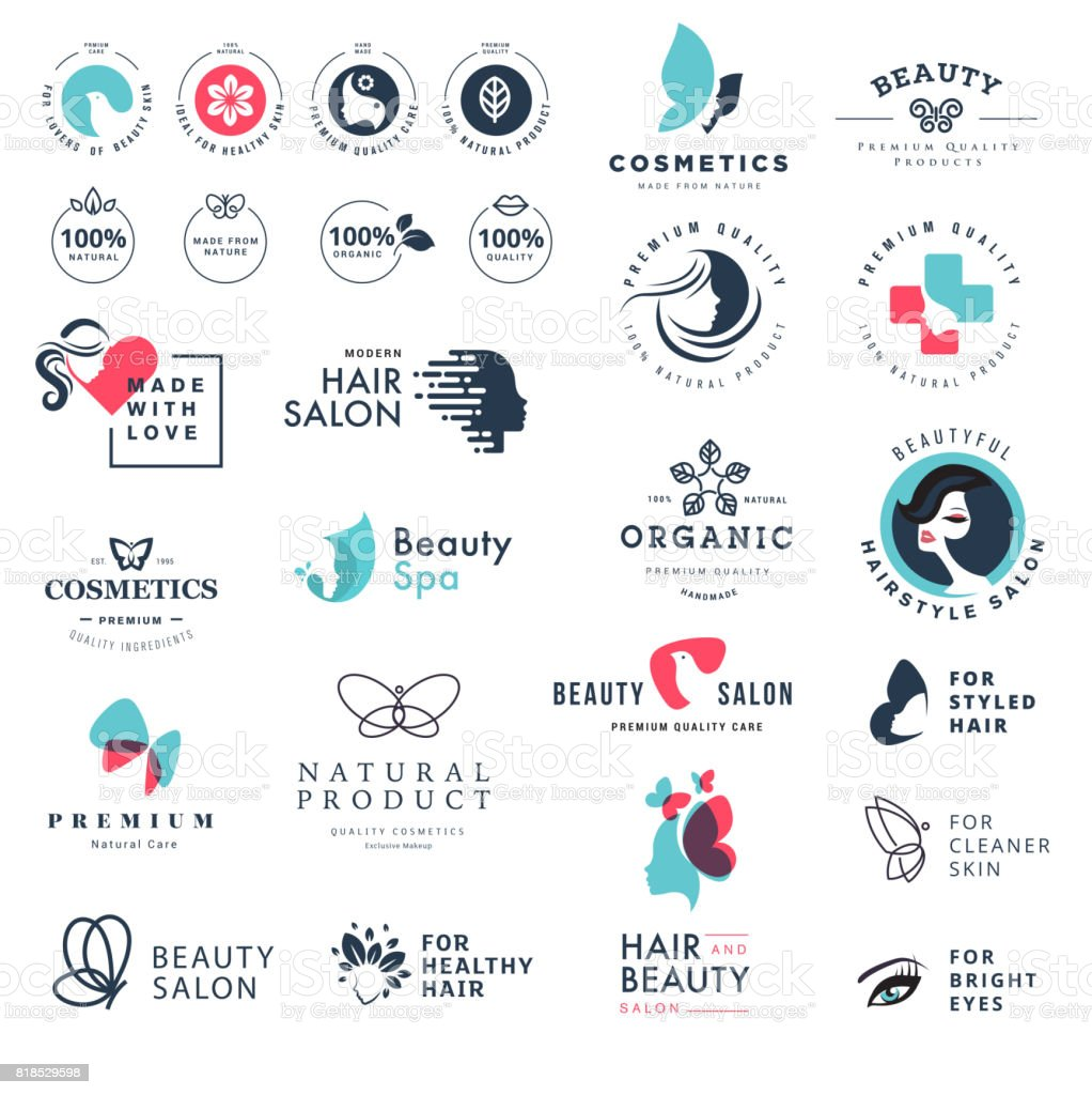 Premium quality beauty and nature icons vector art illustration