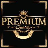 Premium quality gold emblem