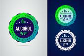 プレミアム品質保証、ノンアルコール製品ベクトル ラベル。