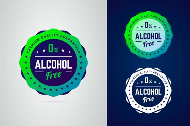 najwyższa jakość gwarantuje bezalkoholową etykietę wektorową produktu. - pieczęć znaczek stock illustrations