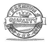 Premium Quality Label Design Drawing