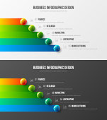 Premium quality marketing analytics presentation vector illustration template bundle.  Business data visualization design layout. Amazing colorful 3D balls corporate statistics infographic set.