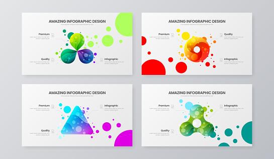 Premium quality marketing analytics presentation vector illustration template.