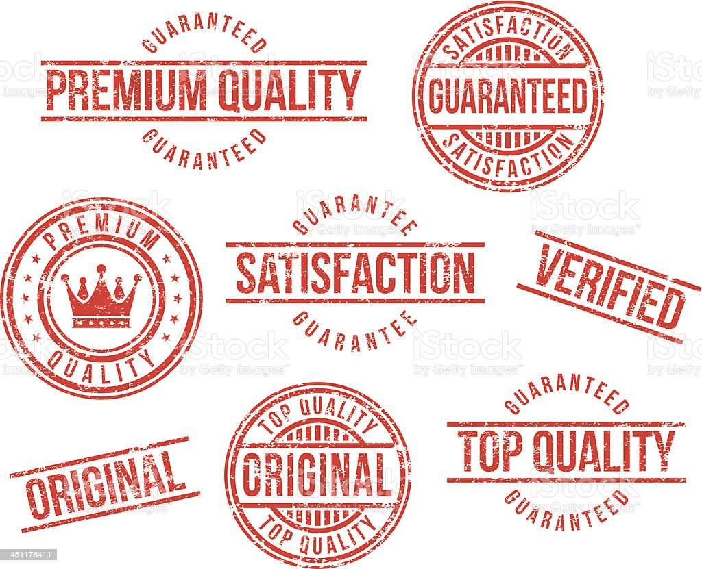 Premium quality rubber stamps vector art illustration