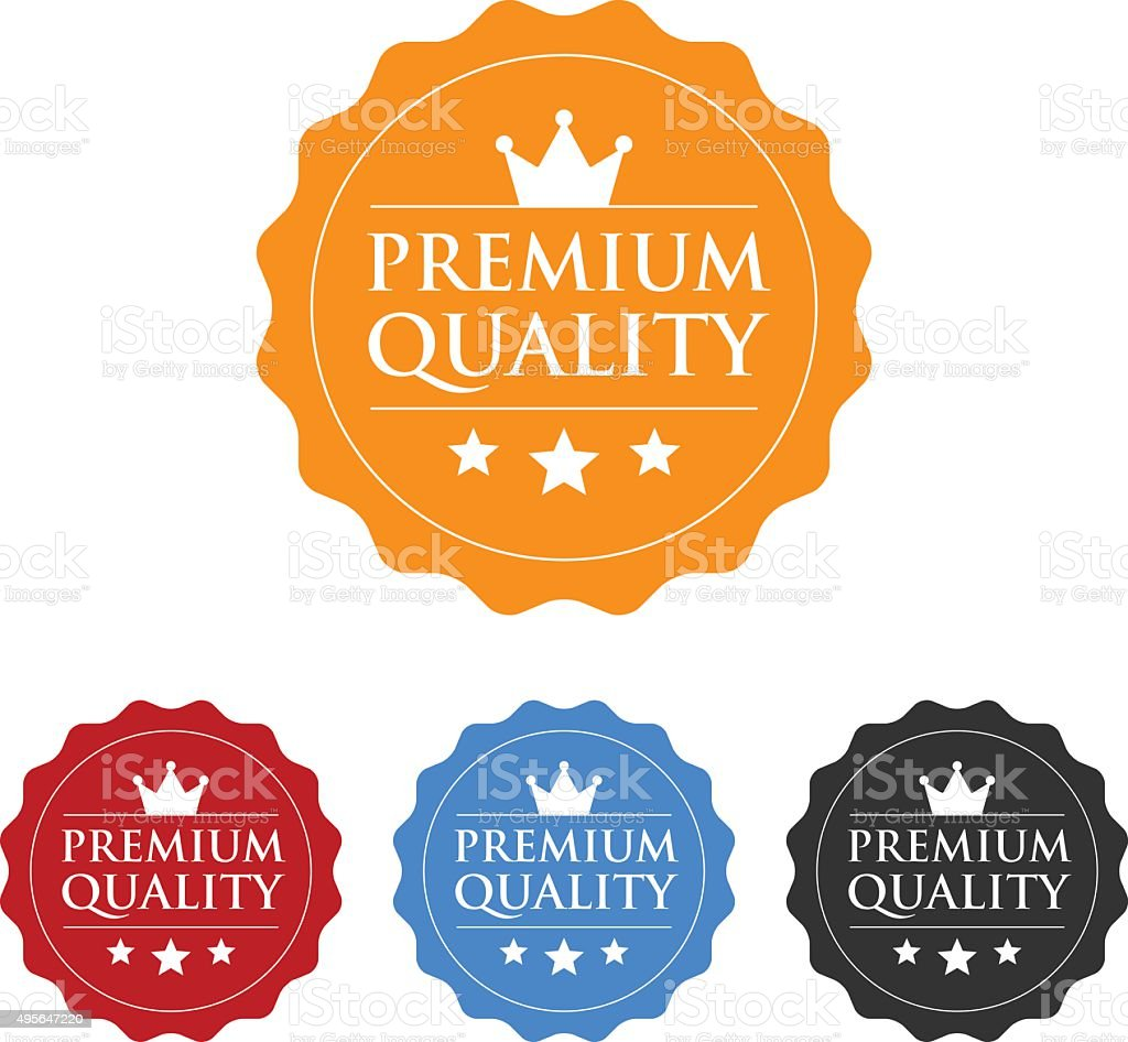 Premium quality seal or label flat icon vector art illustration