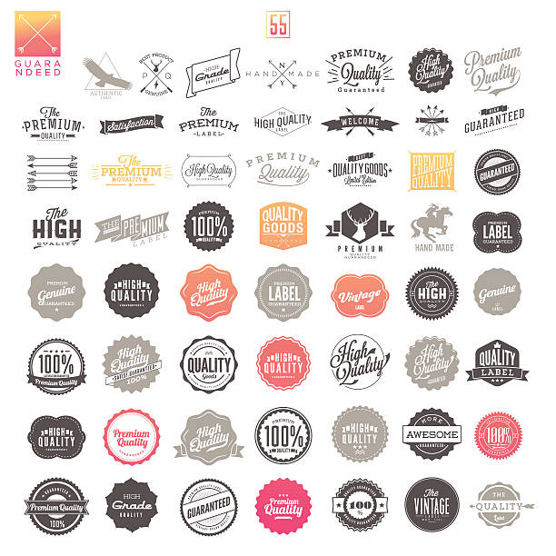 Premium Quality Vintage Labels​​vectorkunst illustratie