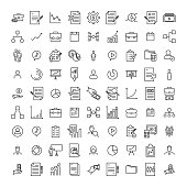 Premium set of management line icons. Simple pictograms pack. Stroke vector illustration on a white background. Modern outline style icons collection.