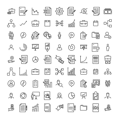 Premium set of management line icons. clipart