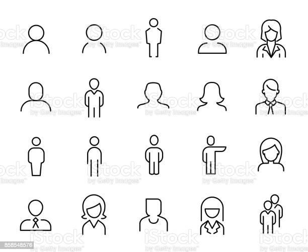 Premium set of people line icons vector id858548576?b=1&k=6&m=858548576&s=612x612&h=rgodth76 lsvlbtvjobqa3wbvg6n6fbyqgklqksryn4=