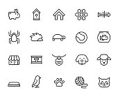 Premium set of pet line icons. Simple pictograms pack. Stroke vector illustration on a white background. Modern outline style icons collection.