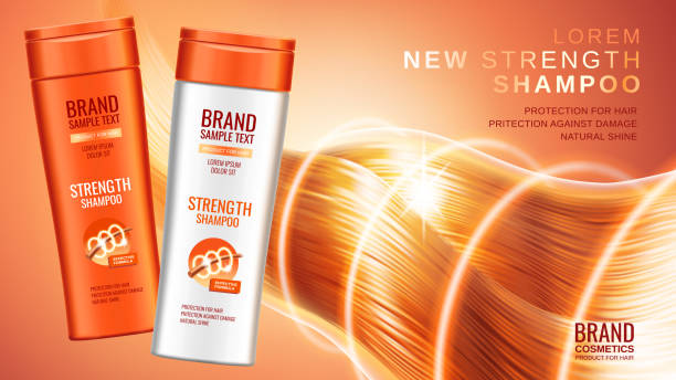 premium-shampoo anzeigen - shampoos stock-grafiken, -clipart, -cartoons und -symbole