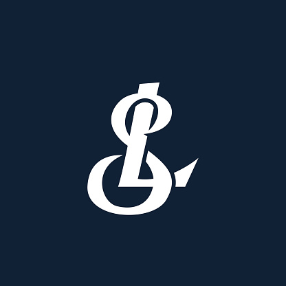 Premium SL or LS letters logo design. Creative elegant curve vector logotype. Luxury linear creative monogram. Combined letters S and L.