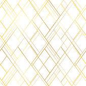 Premium style vetor seamless pattern. Golden cross lines on a white background